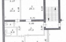 Продается 3-х комнатная квартира на площади Калинина. Один и