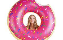 Круг надувной Пончик клубника и шоколад 120 см