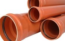 Труба и фитинги НПВХ для наружной канализации D110-500 мм