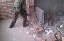 Демонтаж перегородок стен