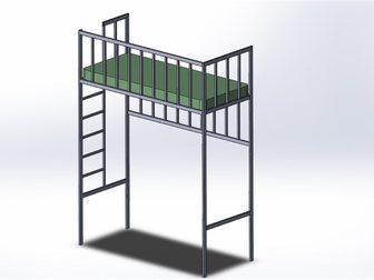 Скачать foto Мебель для спальни Изготовлю кровать-чердак или двухярусную кровать по вашим размерам! 32685036 в Новосибирске