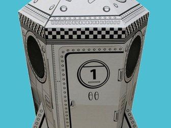Скачать бесплатно изображение  Картонный домик для игры и рисования, 33289337 в Новосибирске