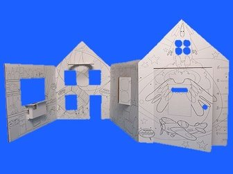 Скачать бесплатно фото Детские игрушки Недвижимость для детей: картонный дом для детей из ЭКО-картона, 33289368 в Новосибирске