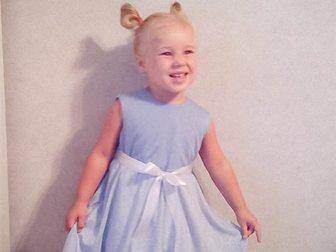Просмотреть foto Детская одежда Нежное платье в голубых тонах для девочки от 3-х до 5-х лет! 35489711 в Новосибирске