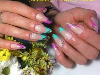Скачать бесплатно фотографию  Наращивание ногтей, покрытие гель-лаком 36941941 в Новосибирске