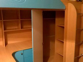Свежее фото Мебель для детей Детский комплекс-кровать, шкаф, стол+ матрас 37664276 в Новосибирске