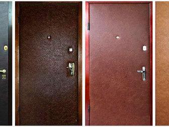Скачать бесплатно фотографию  Обивка обшивка оклейка металических дверей дермантином (винилискожей) 37699140 в Новосибирске