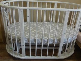 Просмотреть фотографию Детская мебель Кроватка круглая «Облако» 6 в 1 67886988 в Новосибирске