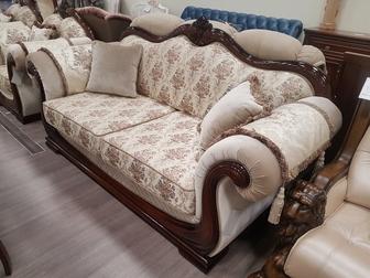 Уникальное фото Мягкая мебель Продам комплект мебели Юнна-Эллада, диван, 2 кресла 69381519 в Новосибирске