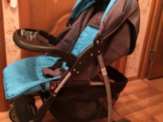 Продам отличную легкую коляску,  После одного ребёнка, покатались только одно лето, Состояние: Б/у в Новосибирске