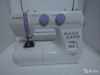 Швейная машинка Famili silver line 3008,  Машинка в идеальном состоянии, все работает, почти не пользовались, Электромеханическая швейная машина,  8 строчек, петля в Новосибирске