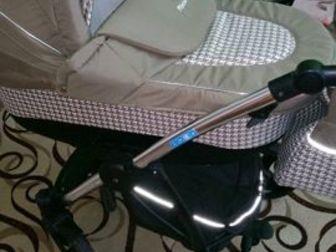 Продам коляску-вездеход aro team Platon 3 в 1, Просторная люлька, удобный прогулочный блок, вместительный багажник, в комплекте накидка на ножки, сумка для мамы, в Новосибирске