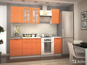 Кухня техно оранж,  (сура) модульная Модульная система Любая комплектация (на фото комплектация - шнм 500 шн2я 600 шн 400 шв 500 швс 600 шв 400) Цена указана за:шв в Новосибирске