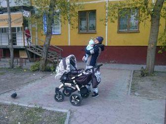 Коляска VERDI baby Merc 4 зима/лето в хорошем состоянии и автомобильная переноска geoby (фото нет),  Коляска трансформер 3 в 1 в комплекте сумка мамы, москитная в Новосибирске