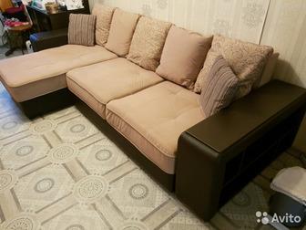 Продам диван, чистый (прошел чистку), Продажа в связи с переездом, Цена фиксированная, Самовывоз (живем на 2 этаже, имеется рабочий грузовой лифт), Ориентир: ул, в Новосибирске