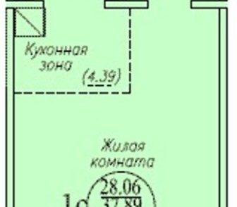 Изображение в Недвижимость Продажа квартир Продам большую студию на Бронной . дом сдан в Новосибирске 1355000