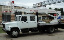 Автоподъёмник, автовышка ВСТ-18, 06 на шасси ГАЗ-3309 (5 мест)