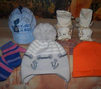 Фото в Для детей Детская одежда вязанные двойные . теплые шапочки от 5 месяцев в Омске 10
