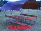 Просмотреть фотографию Мебель для дачи и сада Беседки маленькие для дачи, грунтованные,оцинкованные 39883892 в Орле