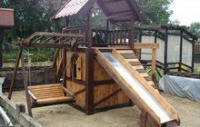 Детские площадки из клееного бруса и бревна
