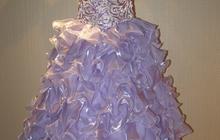 Продаю платье праздничное на рост ребенка 125-145 см (6-10лет)