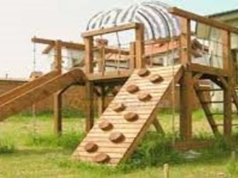 Скачать фотографию Разное Детские площадки из клееного бруса и бревна 32481817 в Пензе