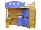 Уникальное изображение Детская мебель Уголок школьника Юнга голубой (кровать-чердак) 35082447 в Перми