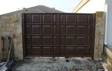 Ворота шоколадка филенчатые