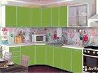Кухня Радуга 4,3 м зеленая (есть другие) в наличии
