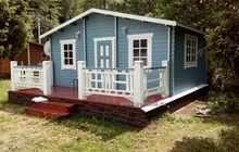 Садовые домики из мини бруса
