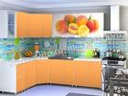 Угловая кухня Персик/оранж 4,3 м лдсп лак