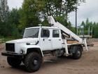 Новое фотографию Автогидроподъемник (вышка) Автовышка ГАЗ 33081(2-х рядная кабина),высота подъема 18м 33025268 в Ростове-на-Дону