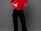 Новое фото Женская одежда Спортивный костюм КС бархат красный/черный 36780272 в Ростове-на-Дону