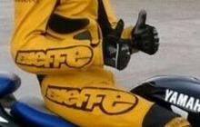 Мужской кожаный мотокомбенизон