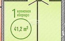 Однокомнатная квартира в сданном доме в Александровке, ул. В