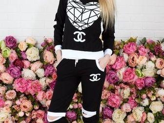 Скачать бесплатно фото Женская одежда Спортивный костюм NK с капюшоном белый/черный 36780213 в Ростове-на-Дону