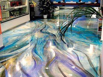 Свежее foto  Выполняем декоративные полимерные наливные полы, 37934364 в Ростове-на-Дону