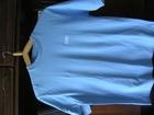 Фотография в Одежда и обувь, аксессуары Мужская одежда футболка голубого цвета однотонная с логотипом в Санкт-Петербурге 400