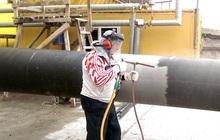 Пескоструйная обработка труб и металлопроката