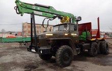 Лесовоз Урал дв, ЯМЗ-238 с новым манипулятором Атлант-С 90