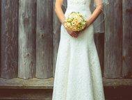 """кружевное свадебное платье Элегантное кружевное свадебное платье цвета""""Айвори. С"""
