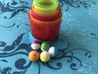 Башня из кубиков с шариками Детская Игрушка