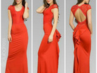 Смотреть фотографию Женская одежда Длинное платье с открытой спиной артикул - Артикул: Am7043-4 37637290 в Ставрополе