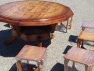 Стол из натурального дуба с табуретками Продаю стол ручной работы с 8-ю табуретк