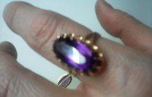 Набор золото 583 пробы перстень р 17 и серьги александриты 1970 год