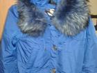 Изображение в Одежда и обувь, аксессуары Женская одежда куртка голубая с капюшоном отделка песец в Тюмени 2500