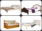 Скачать изображение Детская мебель Кровать с мягкой спинкой массив сосны 59355590 в Томске