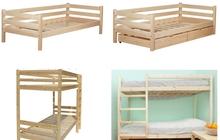 Деревянные кровати одноярусные и двухъярусные