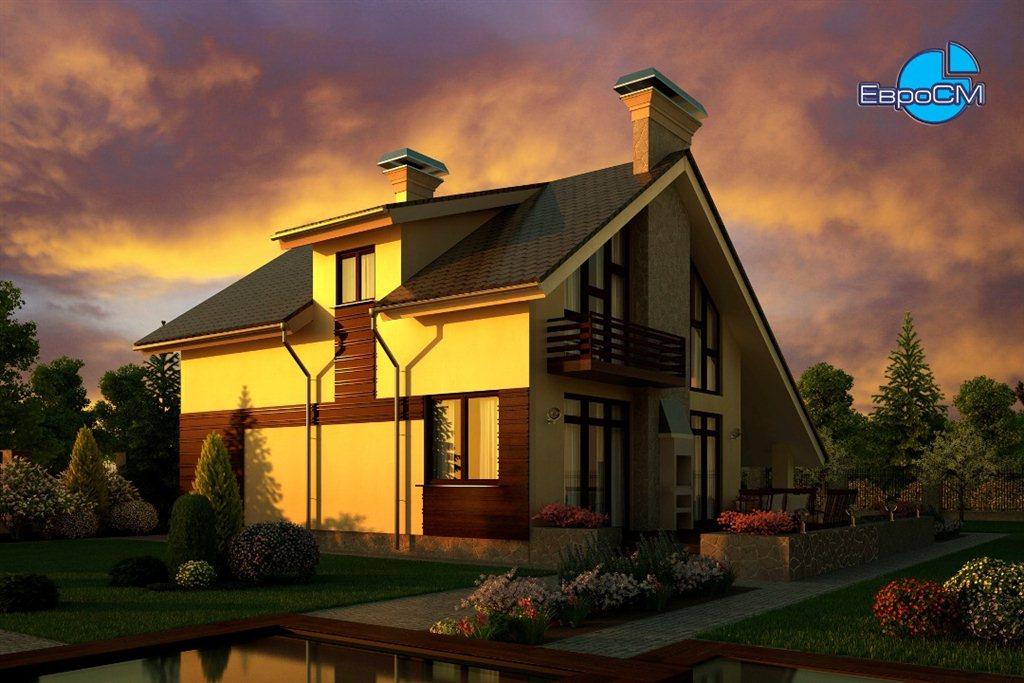 Ландшафтный дизайн дома с гаражом