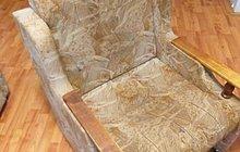 Кресло на подушках